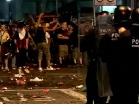 Погром в Барселоне: празднование…